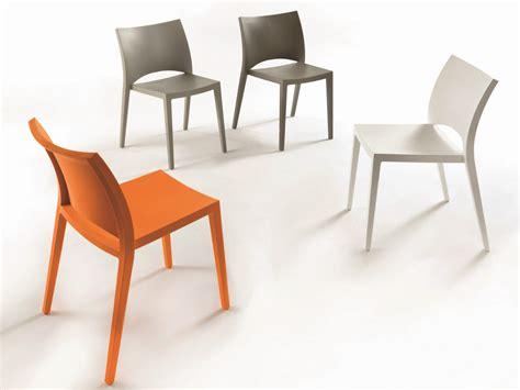 chaises casa chaise empilable en polypropylène aqua collection chaises