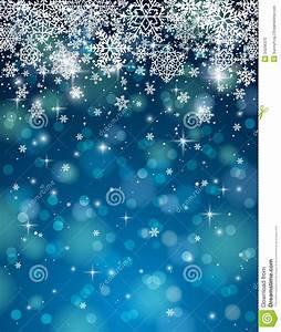 Fondo Azul Con Los Copos De Nieve, Vector Foto de archivo Imagen: 34296370