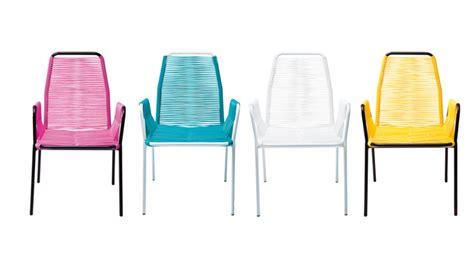 chaise fil plastique mobiliers de jardin le du design extérieur