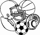 Sports Equipment Drawing Coloring Pages Getdrawings sketch template