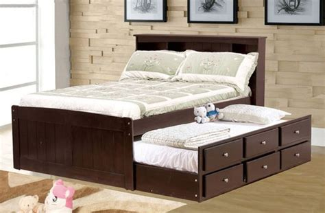 full bed with trundle candice cappuccino size bed w trundle drawers 15294