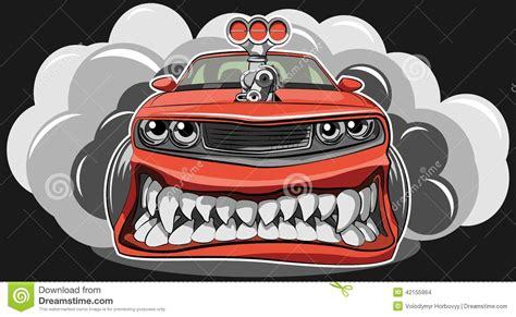 Angry Car Stock Vector