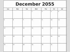 August 2055 Blank Calendar Template