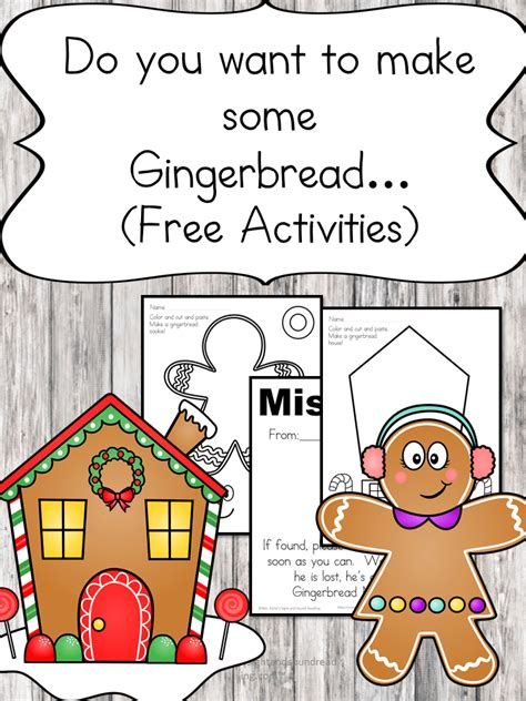 gingerbread cutout template and lesson plan 742 | build a gingerbread