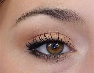 Maquillage Pour Yeux Marron : le maquillage simple en photos ~ Carolinahurricanesstore.com Idées de Décoration