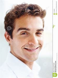 Stock Images: Portrait of handsome young man smiling ...