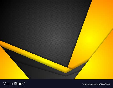 Abstract Black And Yellow Design by Abstract Yellow Corporate Background Vector Image