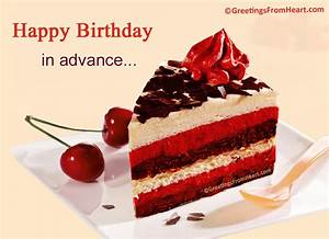 Advance Birthday Greetings