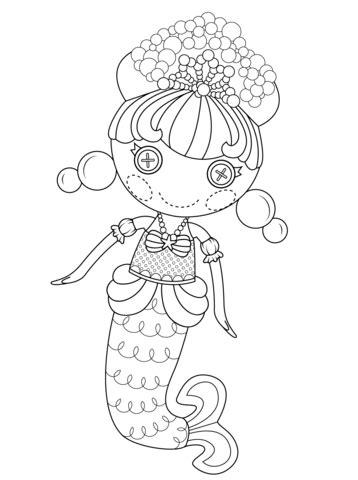 dibujo de bubbly sirena de lalaloopsy  colorear