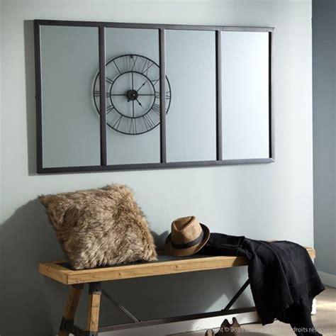 miroir atelier verri 232 re horizontale rectangulaire en m 233 tal noir akhal decoclico style