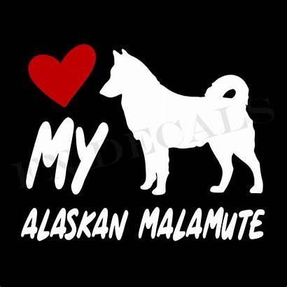 Alaskan Vinyl Malamute Decal Sticker Label