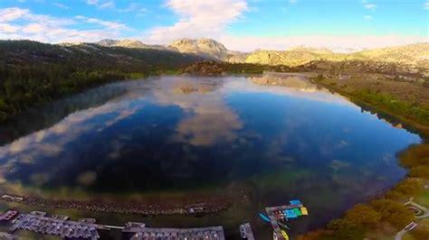Drone Captures June Lake Resort Near Yosemite National