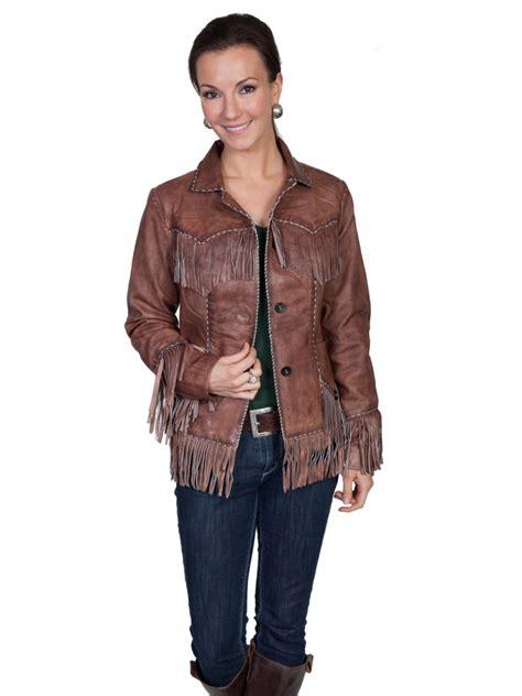 western fringe jacket lambskin western wear frontier