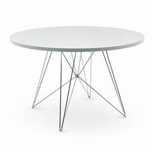 Tisch Rund 120 Cm : magis tavolo xz3 tisch rund wei gestell chrom 120 cm online kaufen bei woonio ~ Indierocktalk.com Haus und Dekorationen