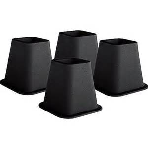 as seen on tv bed risers black pack of 4 walmart com