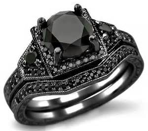 black wedding sets black engagement ring horrific finds