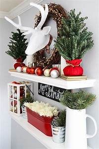 Not, Sure, What, To, Put, On, Your, Floating, Shelves, This, Christmas, This, Post, Can, Help, Easy