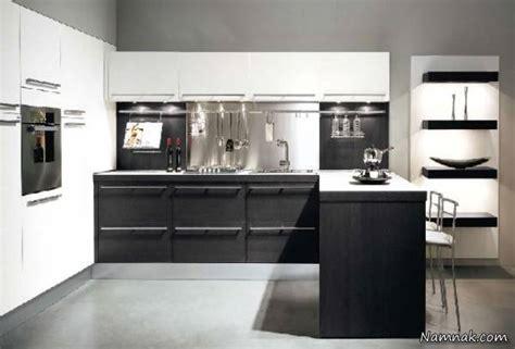 white and black kitchen designs کابینت سفید مشکی جدیدترین دکوراسیون آشپزخانه لوکس 1728