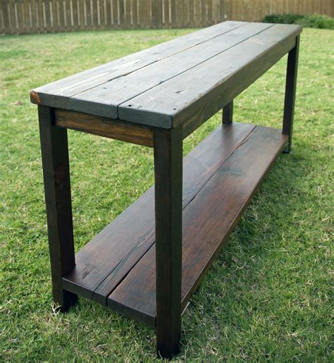 console table used as desk 40 stunning reclaimed wood console tables