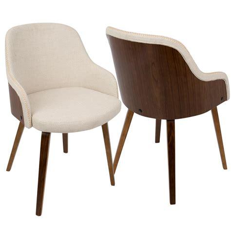 wood side chairs lumisource bacci mid century modern walnut and 1149