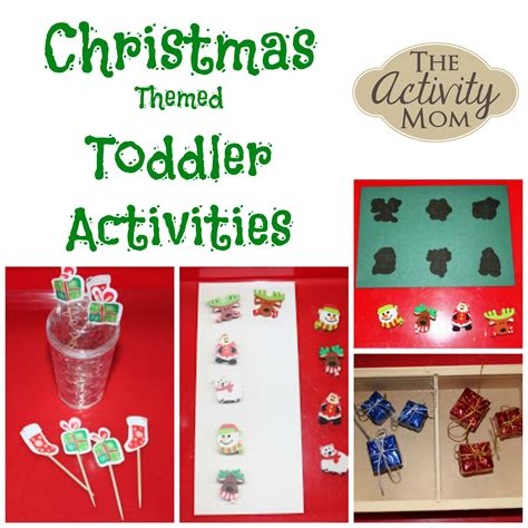 activity mom christmas activity tray ideas