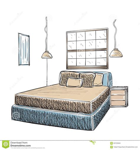 croquis chambre a coucher croquis intérieur moderne de chambre à coucher