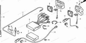 Honda Motorcycle 1999 Oem Parts Diagram For Radio