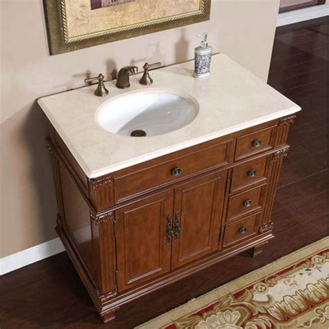 bathroom vanity cabinets with tops 36 inch single sink bathroom vanity with cream marfil