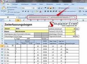 Excel Arbeitszeit Berechnen Formel : zeiterfassung mit excel oder calc ~ Themetempest.com Abrechnung