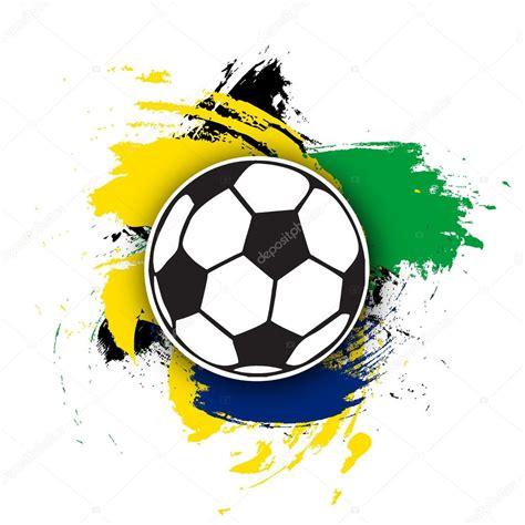 foto de Pallone da calcio vettoriale sullo sfondo di pennellate
