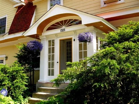 enclosed portico ideas images  pinterest front