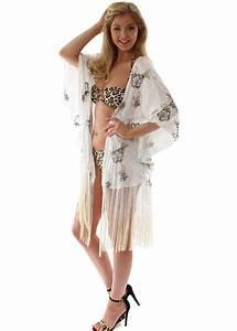 White Embroidered Kimono | White Kimono Jacket | Beach ...