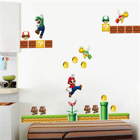 jeu de decoration de chambre classique jeu mario stickers muraux pour chambre d