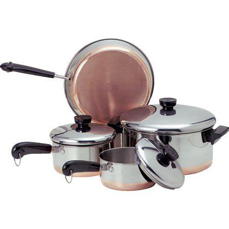 revere stainless steel copper clad cookware set walmartcom