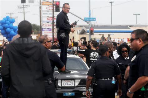 nipsey hussle funeral shooting  dead   injured