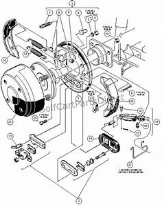 Rear Brake Assembly  Manually Adjusted - Carryall Ii  Ii Plus  And Vi