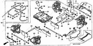 Honda Motorcycle 1999 Oem Parts Diagram For Carburetor Assy