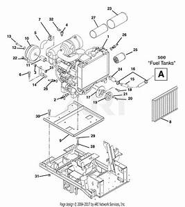 Gravely 992037  001500 -   27 Hp Kawasaki 72 U0026quot  Deck Parts Diagram For Engine