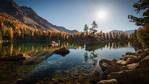 Switzerland, Alps, Forest, Mountain, Reflection, On, Lago, Di