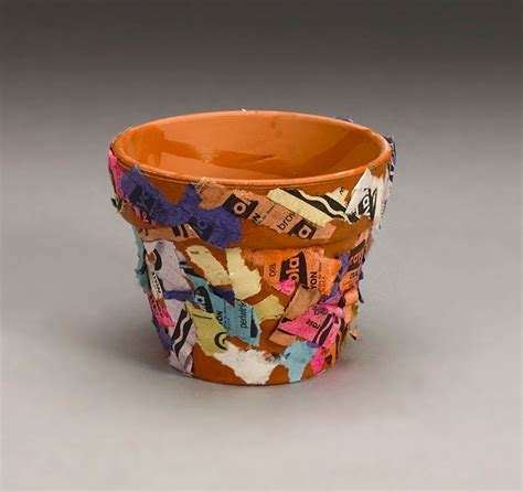 crayon wrapper flower pot craft crayola