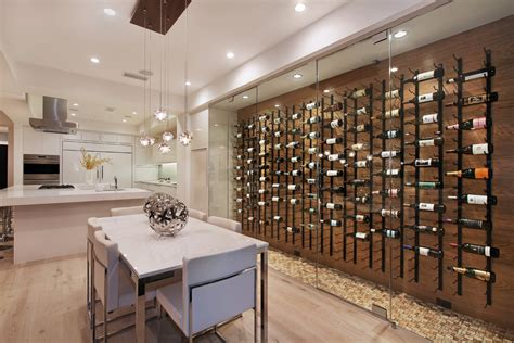 Pendant Kitchen Lighting Ideas - contemporary wall wine with wine rack pins wine cellar modern and