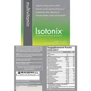 Isotonix Multivitamin Ingredients