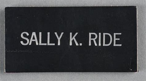 Name Tag, Shuttle Astronaut (Sally K. Ride) | National Air ...