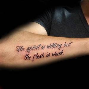 Top 41 Forearm Quote Tattoo Ideas