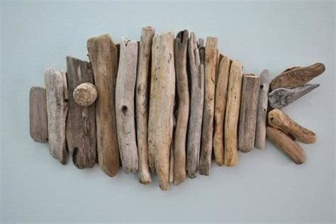 driftwood fish     twig ornament art  cut