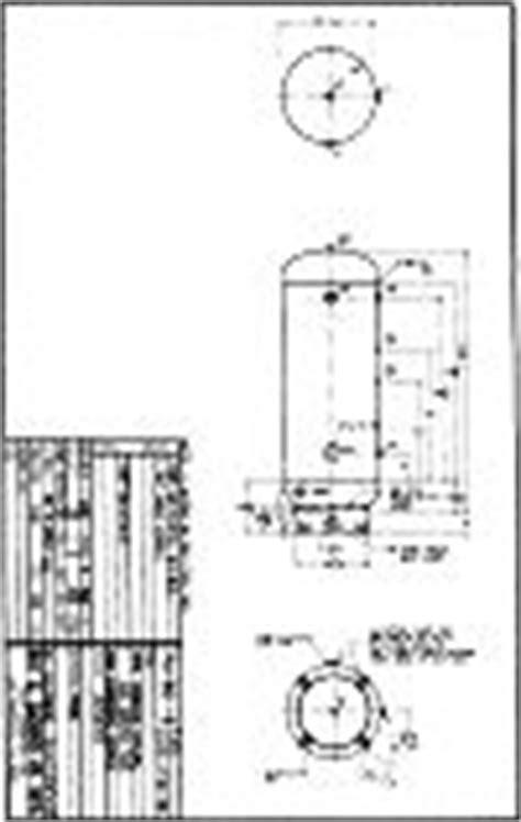 240 gallon Vertical Natural Gas Tank 200 psig - specs