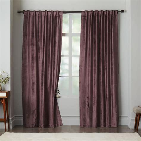 cotton luster velvet curtain iris west elm