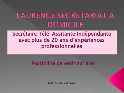 secretaire a domicile tarif diaporama avec power point