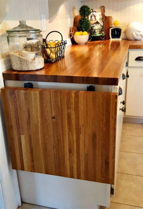 Flip up table at end of counter   kitchen   Pinterest