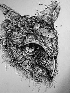 owl-ink-drawing | Tattoos? | Pinterest | Ink, Drawing art ...